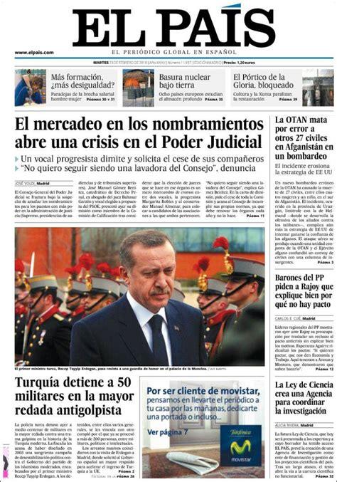 noticias sobre irak el pa s journal el pa 237 s espagne les unes des journaux de