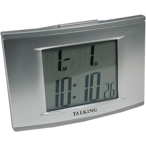 talking 4 alarm clock with el backlight talking clocks