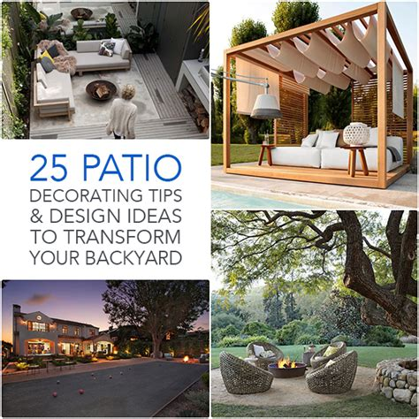 How To Transform A Small Backyard by 25 Patio Decorating Tips Design Ideas To Transform Your