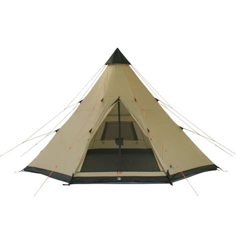 Pyramid Awning by 10t Shoshone 400 8 Person Teepee Tent Pyramid Tent