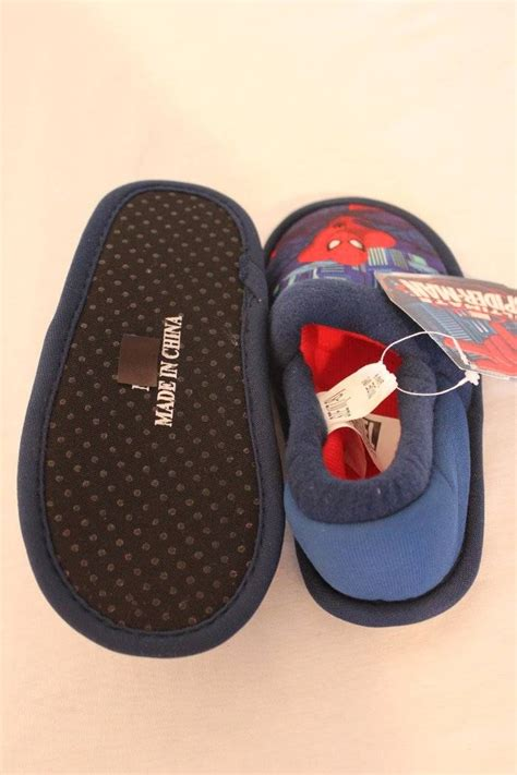 toddler boy house slippers new spiderman toddler boys house shoes medium 7 8