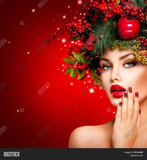 new year model winter beautiful image photo bigstock