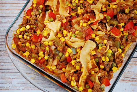 dinner ideas for hamburger meat ground beef and noodle casserole recipe 8 points laaloosh