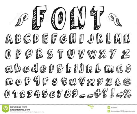 printable doodle letters https www dreamstime com royalty free stock photography