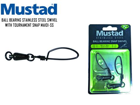 Mustad Bearing Snap Swivel Ma101 Ss Size 7 Bs 400lb 182kg 2p Mustad Tackle4all Fishing Tackle Shop