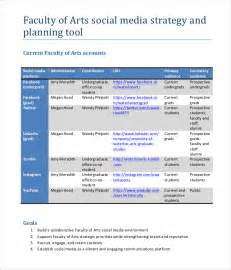 social media plan template marketing strategy plan template free word pdf