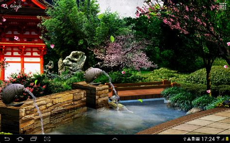 wallpaper garden cartoon eastern garden live wallpaper android apps on google play