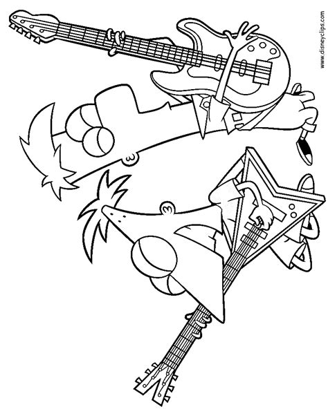 phineas and ferb printable coloring pages disney