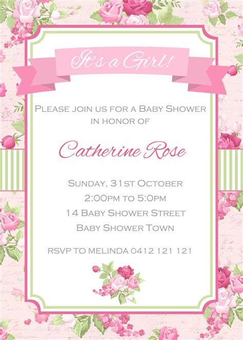 Shabby Chic Baby Shower Invites by Shabby Chic Baby Shower Invitations Xyz