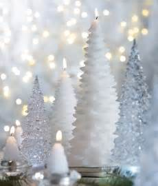 lovely white christmas tree candles white christmas pinterest
