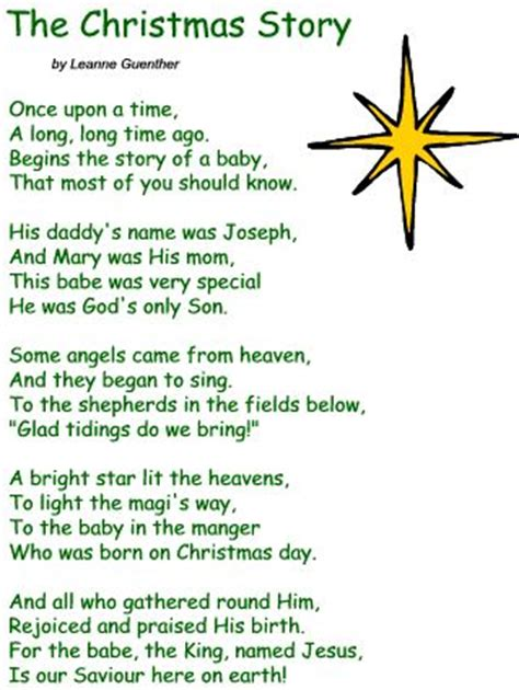 christmas poems for preschoolers poetry sections