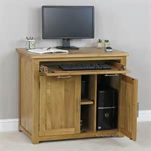 Hideaway Computer Desk Solid Oak Hideaway Home Office Computer Desk