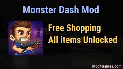 game mod free shopping monster dash hacked game mod apk free archives mod4games com