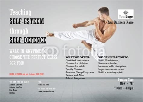 martial arts business card templates print templates printing