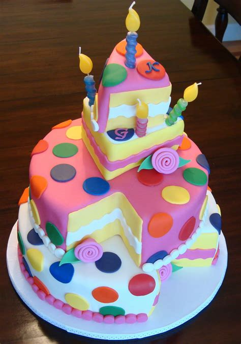 polka dot cakes debby s cakes topsy turvy polka dot birthday quot cake quot