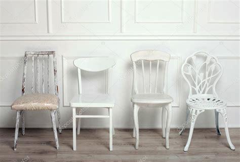 imagenes sillas vintage conjunto de sillas vintage de madera blancas foto de