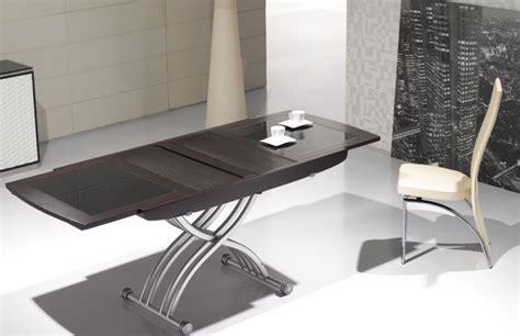 Sur La Table Wok Table Basse Relevable Lea Wenge Et Verre Noir Tables