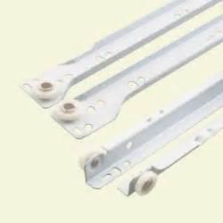 prime line 16 in white bottom mount drawer slides set r