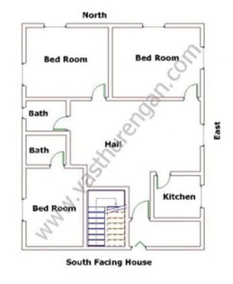 vastu floor plans south facing south facing houses vastu plan 2 vasthurengan com