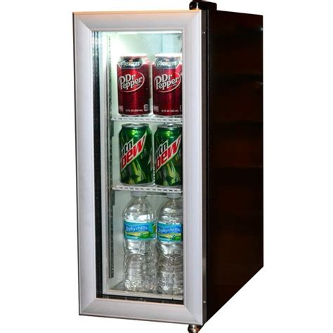 Glass Door Mini Refrigerator Glass Door Mini Fridge For Coffee Bar Chill Out Room Deco Beverages Coolers And