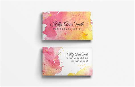 Watercolor Artist Business Card Template   Medialoot