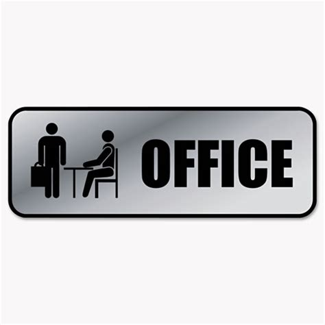 desk signs for office brushed metal office sign office 9 x 3 silver