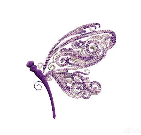 embroidery design dragonfly side profile fanciful dragonfly embroidery design