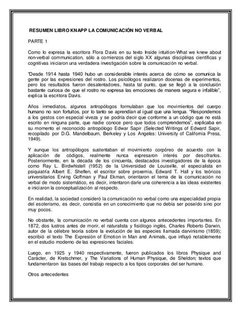 Q Resumen by Resumen Libro Knap No Verbal