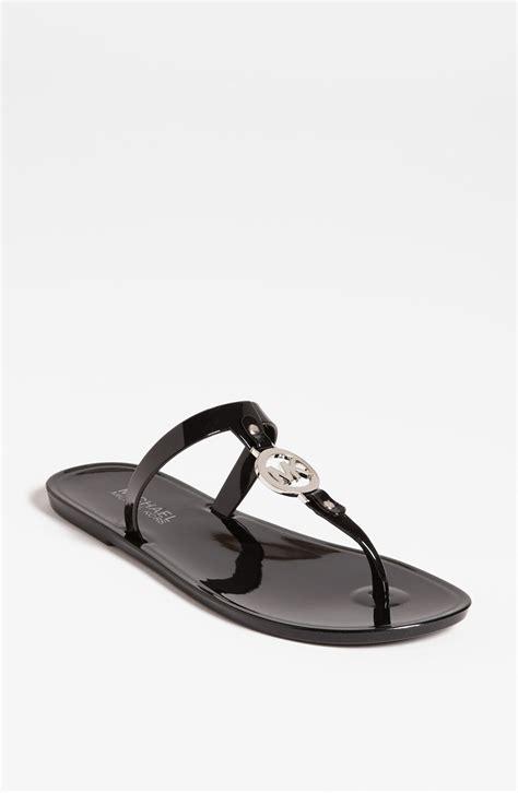 michael kors sandals for michael michael kors jelly sandal in black black