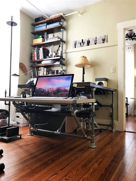 pipe desk with shelves diy pipe desk with shelves what you need to build your