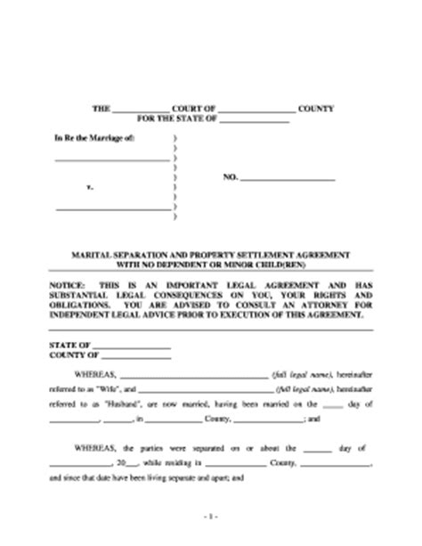 Marriage separation assets