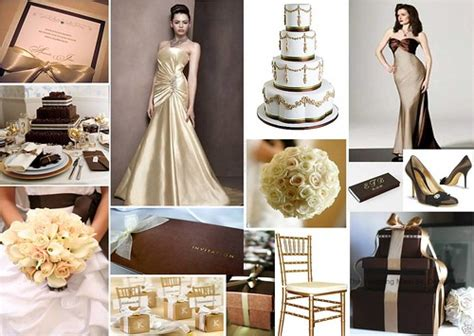 chocolate gold wedding theme check out more inspiring id flickr