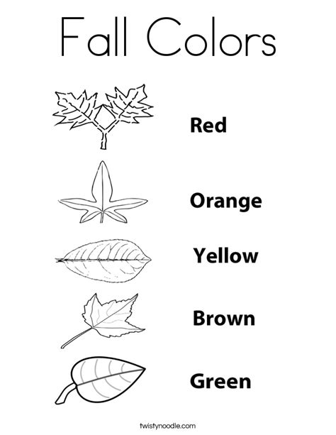 thanksgiving leaf coloring pages fall colors coloring page twisty noodle