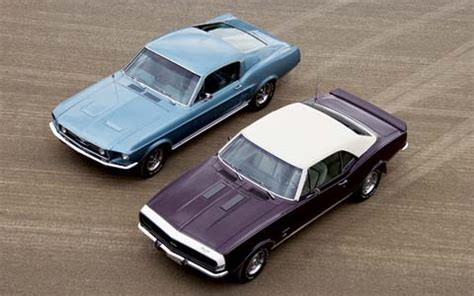 road test: 1967 chevrolet camaro & 1967 ford mustang