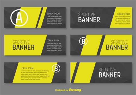 typography design layout banner corporative banners vector template download free vector