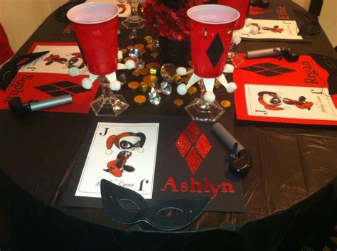 harley quinn themed birthday party harley quinn birthday party pic 2 playlist for my life