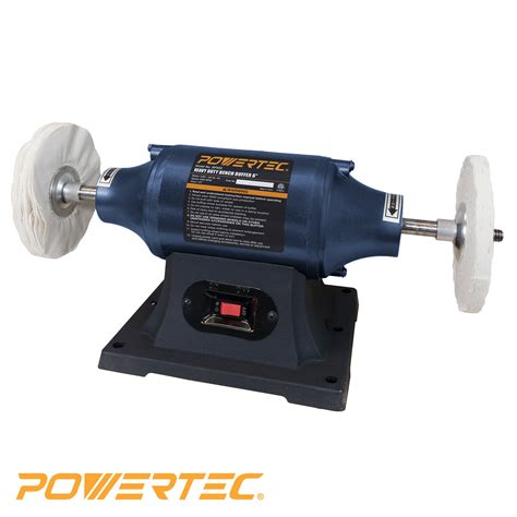bench buffer powertec bf600 heavy duty bench buffer 6 inch tools bench stationary power