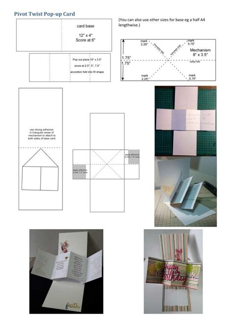 Template Twist Pop Up Card by 133 Best Pop Up Panel Cards Images On