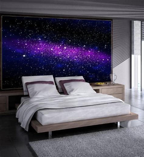 Bedroom Wallpaper Sky Galaxy Photo Wallpaper Space Mural Starry Sky