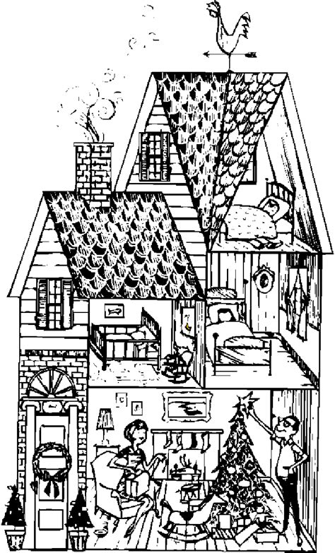 house coloring pages house coloring
