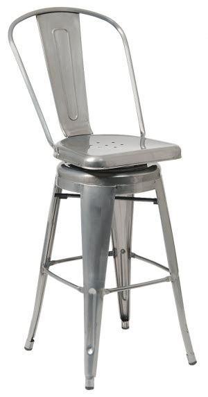 bistro style bar stools bistro style metal swivel bar stool in clear finish