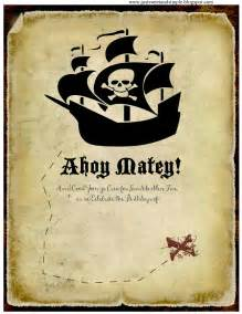 just sweet and simple pirate invitations