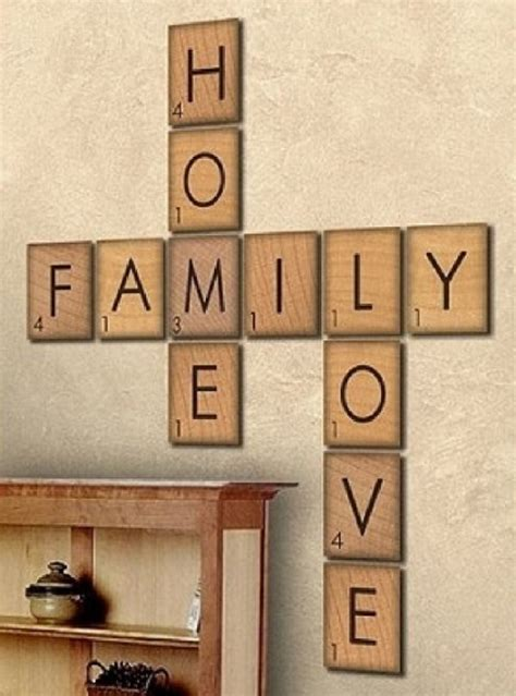 scrabble tile wall decor pin diy scrabble tile wall crafthabitcom on