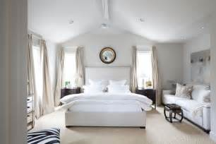 Vaulted ceiling bedroom transitional bedroom ashley goforth