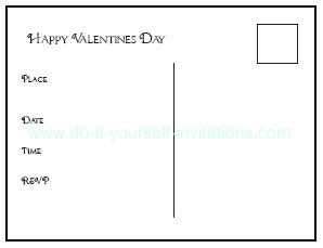valentines card template pdf printable valentines day postcards