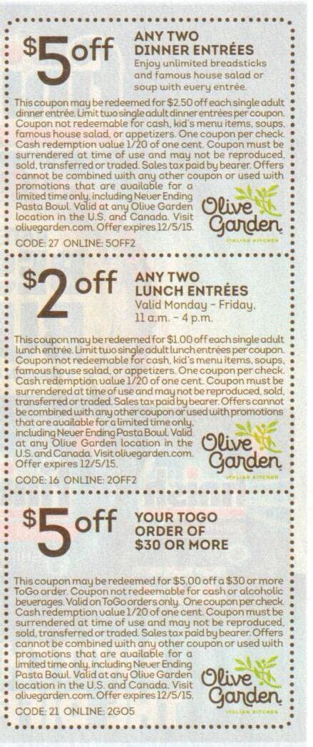 Olive Garden Coupons, Coupon Codes, Promo Code, Deals ... Gardeners.com Coupon Code