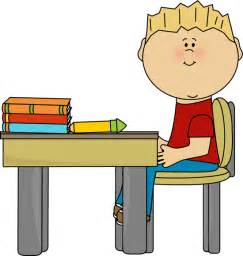 kid sitting at desk school table clipart clipart suggest