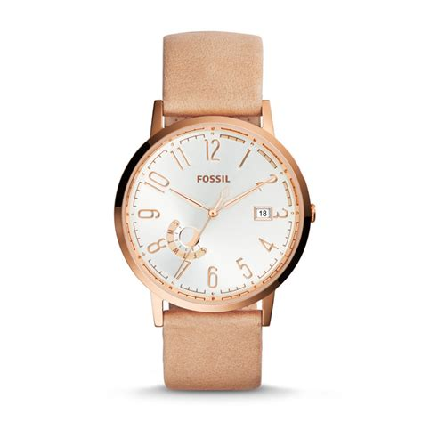 fossil vintage muse three day date leather