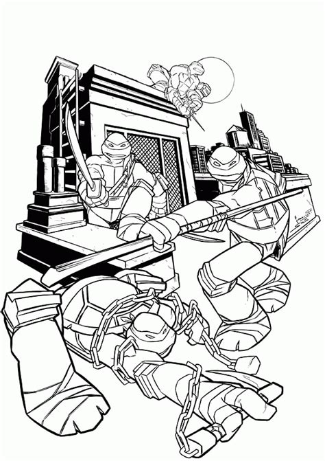 tmnt coloring pages mutant turtles free coloring page printable