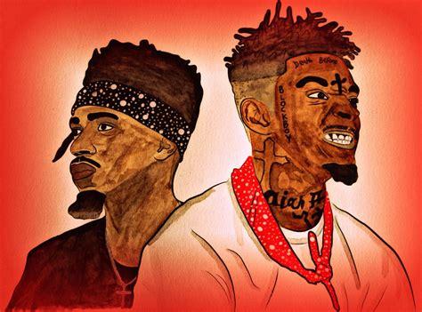 Drawing 21 Savage by 21 Savage Metro Boomin Drawing Michael Adedokun Flickr
